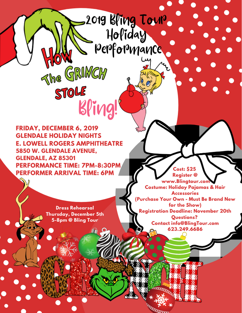 How the Grinch Stole Bling! Holiday Performance