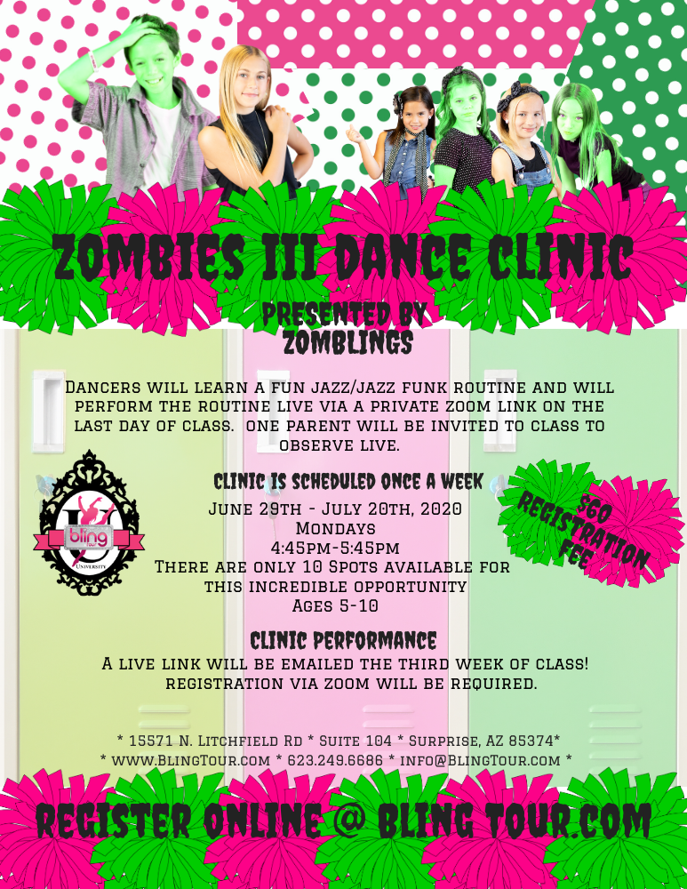 Zombies III Dance Clinic Online via Zoom